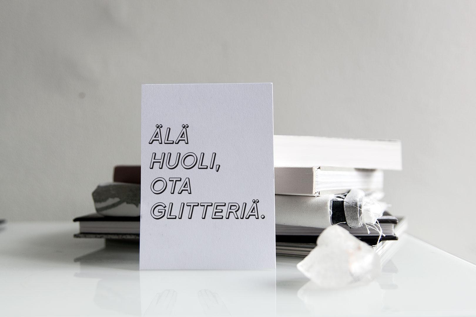 Postikortti | Glitter