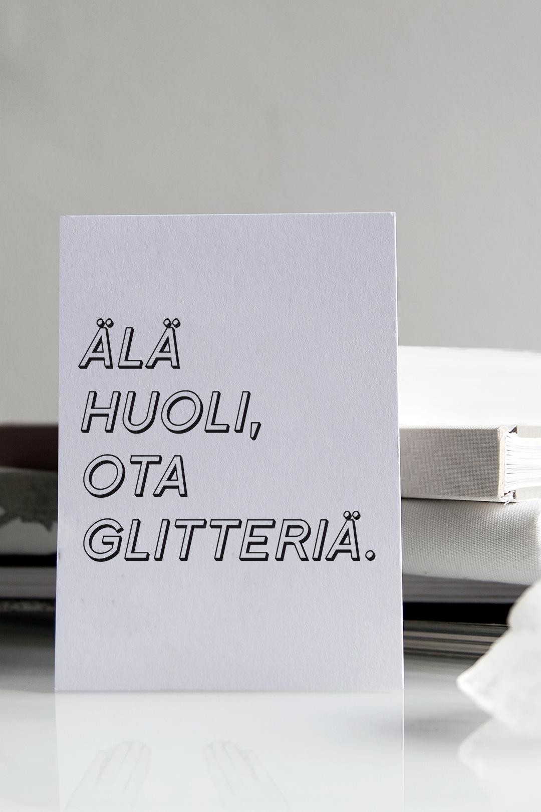 Postikortti | Glitter 4
