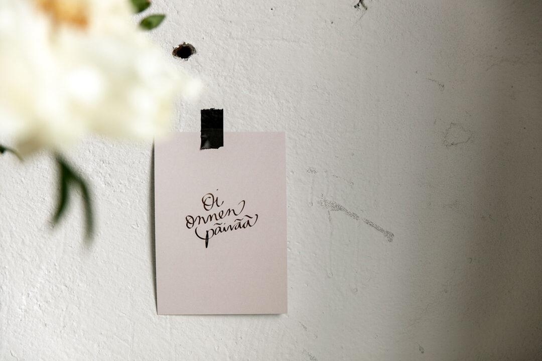Postikortti | Oi onnenpäivää 9