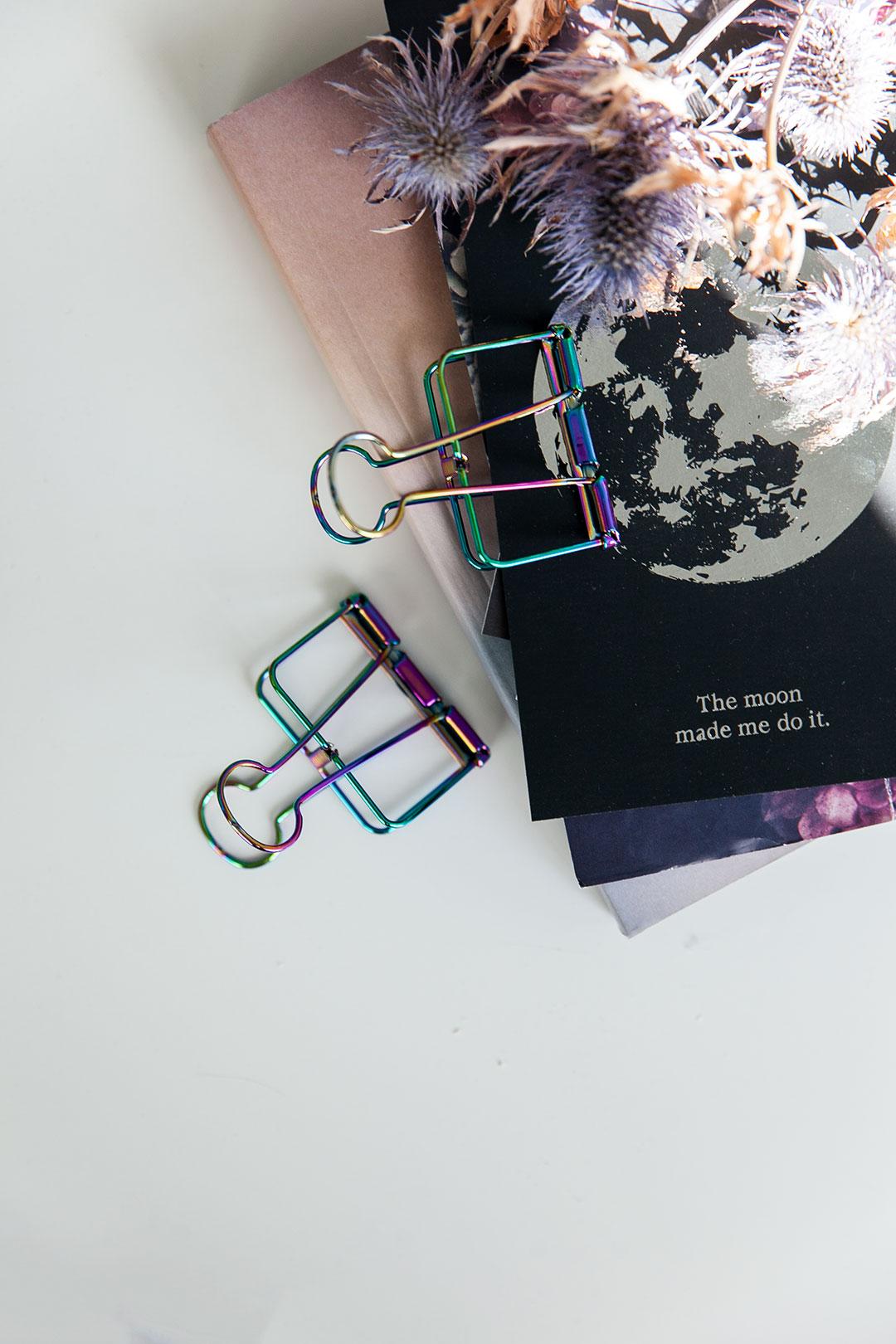 Metalli paperiklipsi | rainbow iso 8