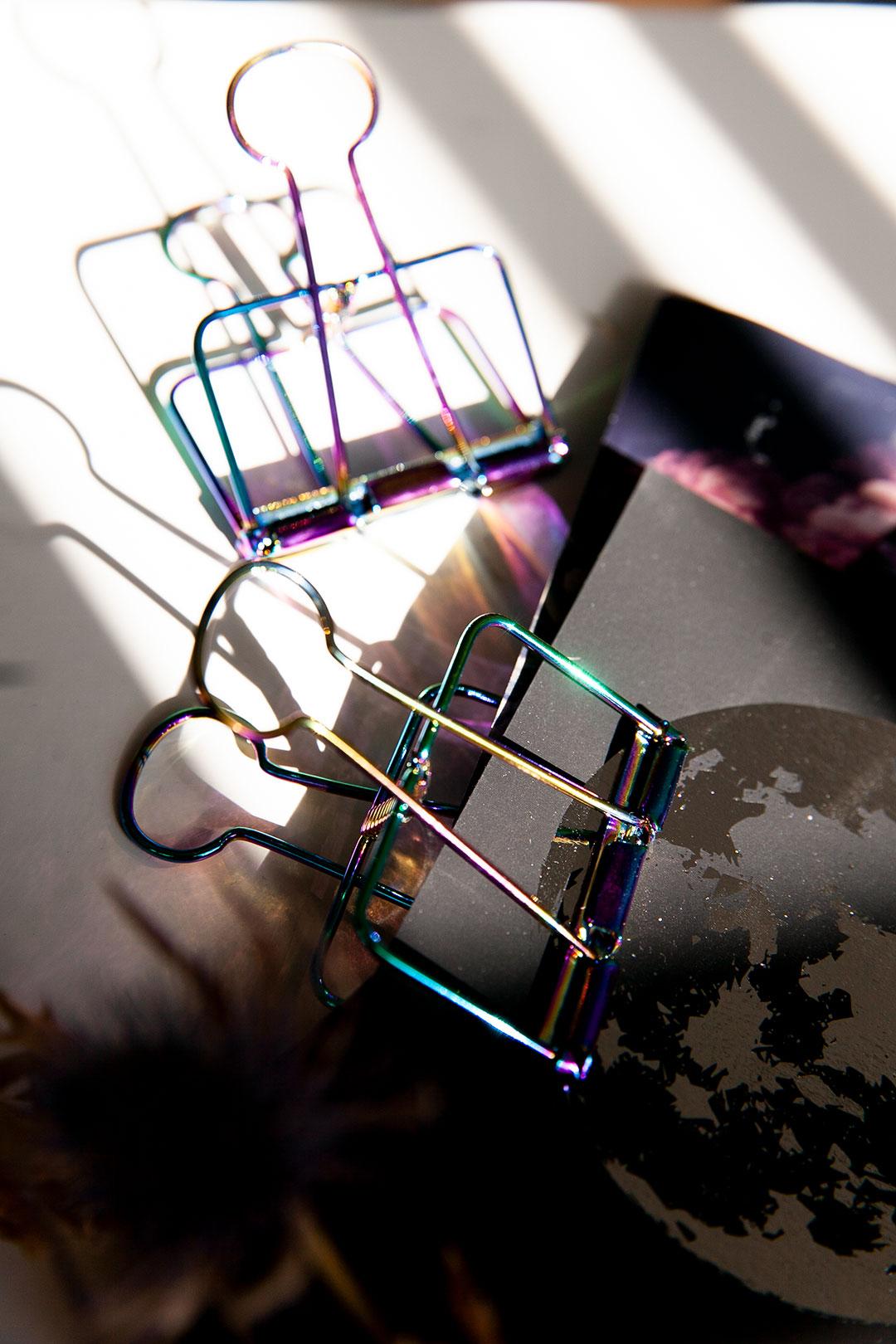 Metalli paperiklipsi | rainbow iso 1