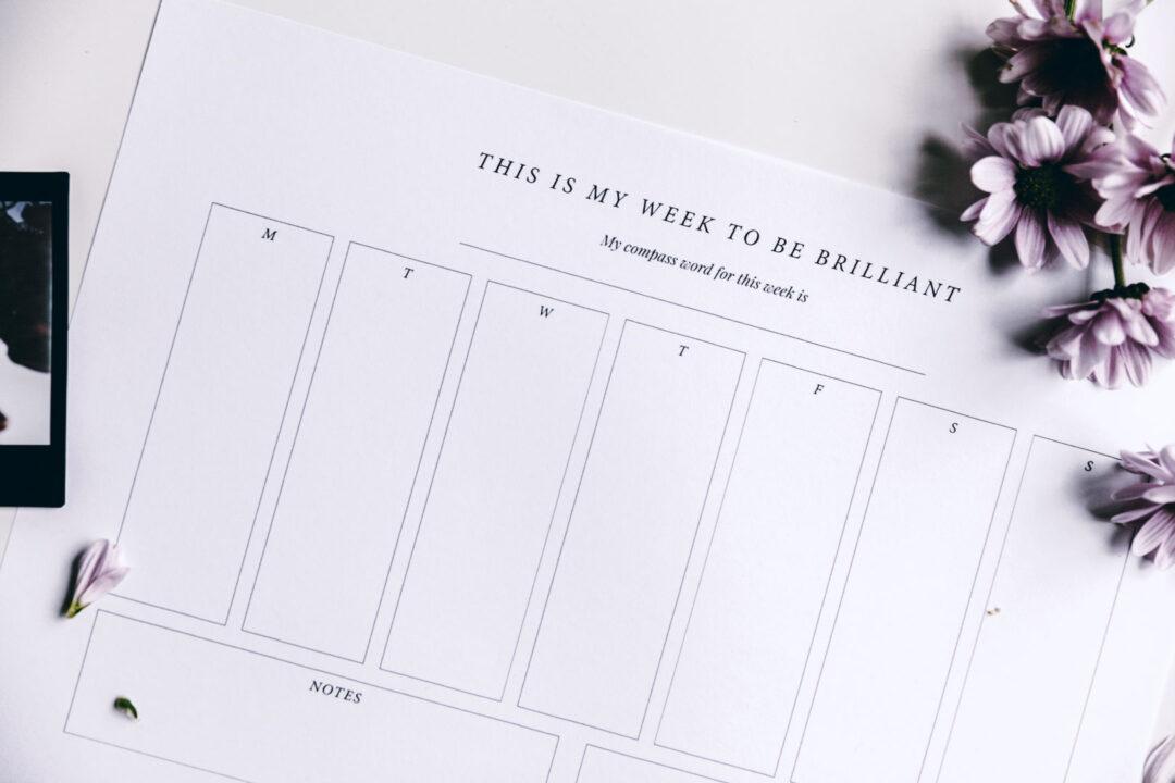 Viikkosuunnitelma | tulostettava 9