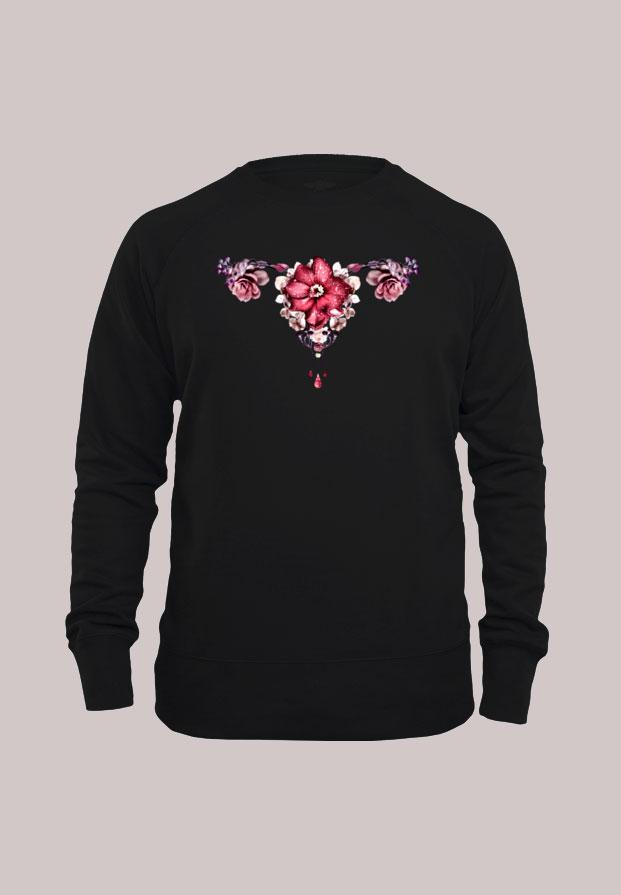 Let it flow | unisex pitkähihainen Pure Waste paita musta 1